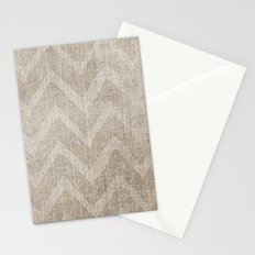 Chevron burlap (Hessian series 1 of 3) Stationery Cards
