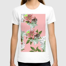 LILY PINK AND WHITE FLOWER T-shirt