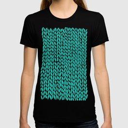Hand Knit Aqua T-shirt