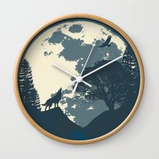 Monotoned Night Time... Wall Clock