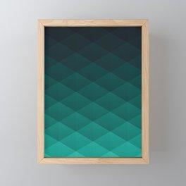 Graphic 949 // Grid Teal Fade Framed Mini Art Print