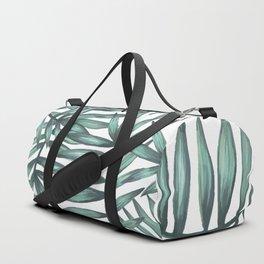 White palm pattern Duffle Bag