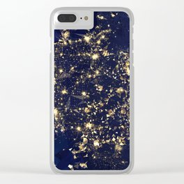 Gold map Clear iPhone Case