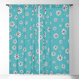 Hornsea Tricorn Design 1958 in Turquoise Blackout Curtain