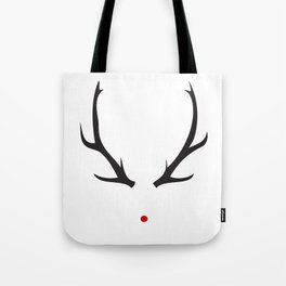 Minimalist Rudolph with red nose Tote Bag