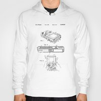 gameboy Hoodies featuring Gameboy Patent Drawing by Patent Drawing