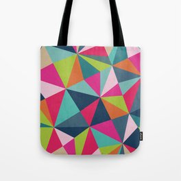 Geometric Triangle Pattern  - Spring Color Palette - Tote Bag