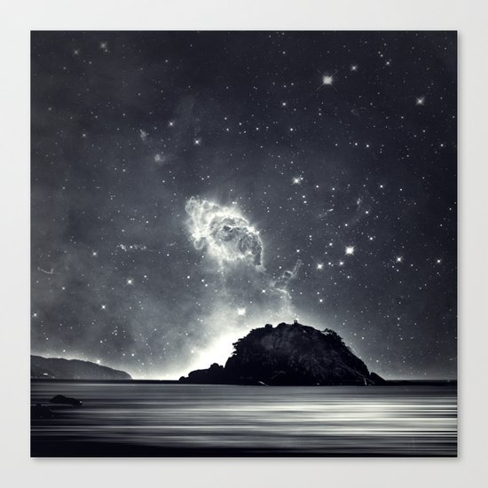 Island in the sea of eternity Canvas Print