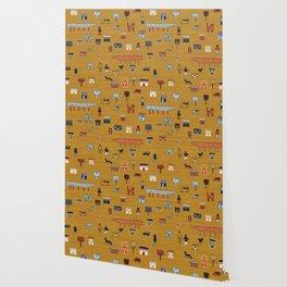 Citta in Gold Wallpaper