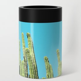 Desert Cactus Reaching for the Blue Sky Can Cooler