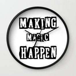 making magic happen chemist t-shirts Wall Clock