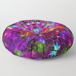Cannabinoid Space-Time Warp Floor Pillow