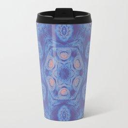 Ultra-violet kaleidoscope mandala with fractal texture Travel Mug