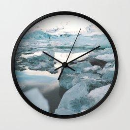 Iceland Glacier Lagoon   Jökulsárlón Wall Clock