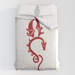Dragon rouge Comforters