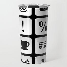 Tourist travel icon set Travel Mug