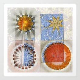 Goondie Fact Flower  ID:16165-095608-32641 Art Print