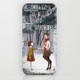 Lucy and Tumnus iPhone Case