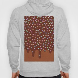 Dripping Melted chocolate Glaze with sprinkles Hoody