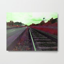 Working with Trains too Metal Print