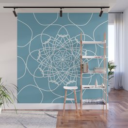 Mandala String Theory of Aqua Wall Mural