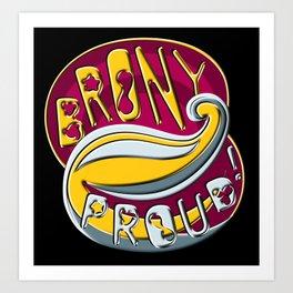 Brony Proud - Metallic Art Print