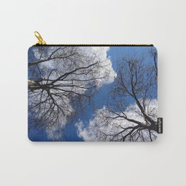 Lovely Beautiful Upwards View Tree Top Summer Sky Ultra High Definition Carry-All Pouch