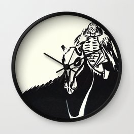 Skull Knight Wall Clock