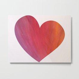 Heart Cutout Metal Print