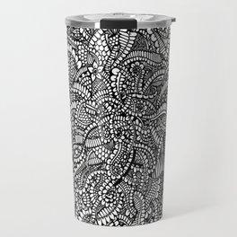 Fullpage abstract doodle Travel Mug