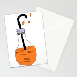 Bad Ideas Orange Juice Stationery Cards