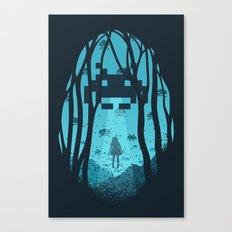 8 Bit Invasion Canvas Print