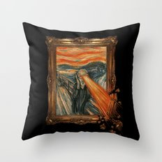 Art Attack Throw Pillow