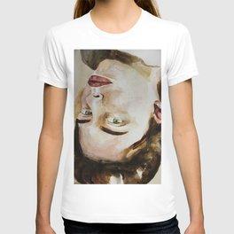 Watercolor portrait beautiful girl T-shirt