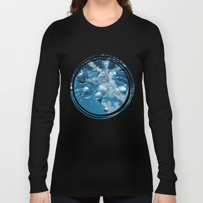 Ice Flower abstract Long Sleeve T-shirt