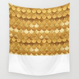 Golden Scales Wall Tapestry