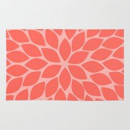 Coral Chrysanthemum Rug