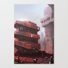 Red crawler Canvas Print