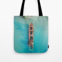 Roatan Island Shipwreck Tote Bag