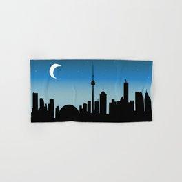 Toronto Skyline - Night Hand & Bath Towel