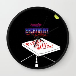 Nightdrive with Pizza Wall Clock