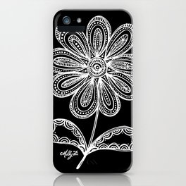 White Flower 93 iPhone Case