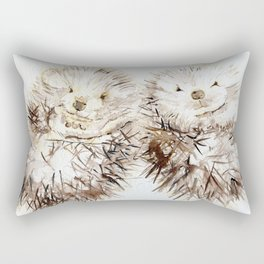 Hedgehog Cuddles Rectangular Pillow