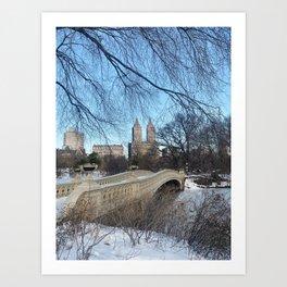 Central Park, NYC Bow Bridge Art Print