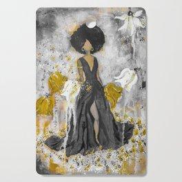 Dear Queen Black and Gold Cutting Board