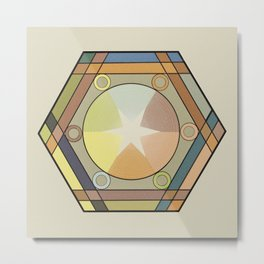 Babbitt's Chromatic Harmony of Gradation and Contrast, 1878, Remake, Vintage Wash Metal Print