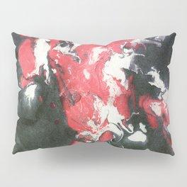 Marbled Ink - Pink Black & White Pillow Sham