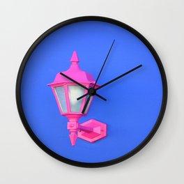 Pink Lamp Retro Wall Clock