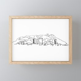 El Paso Skyline Drawing Framed Mini Art Print