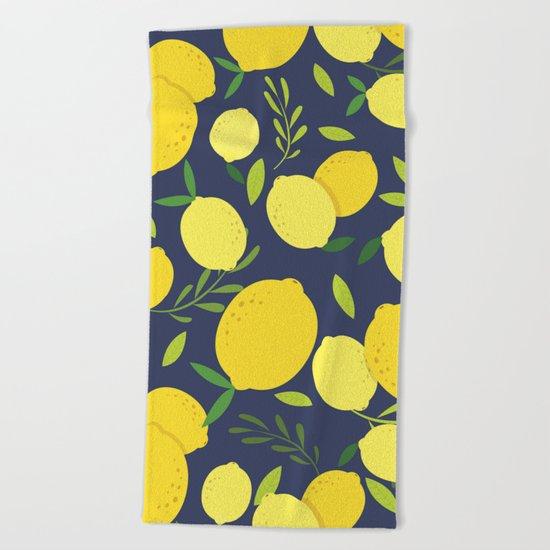 Freshly Picked Lemon Beach Towel